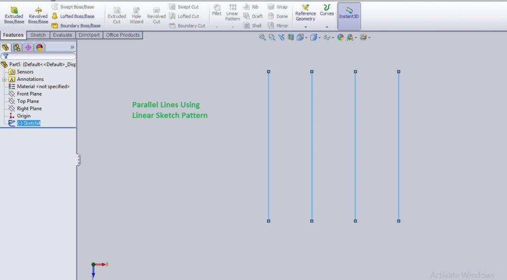 Solidworks linear sketch pattern tutorials final images