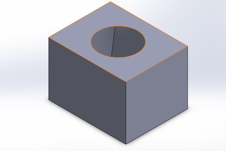 Solidworks loft cut features application final image