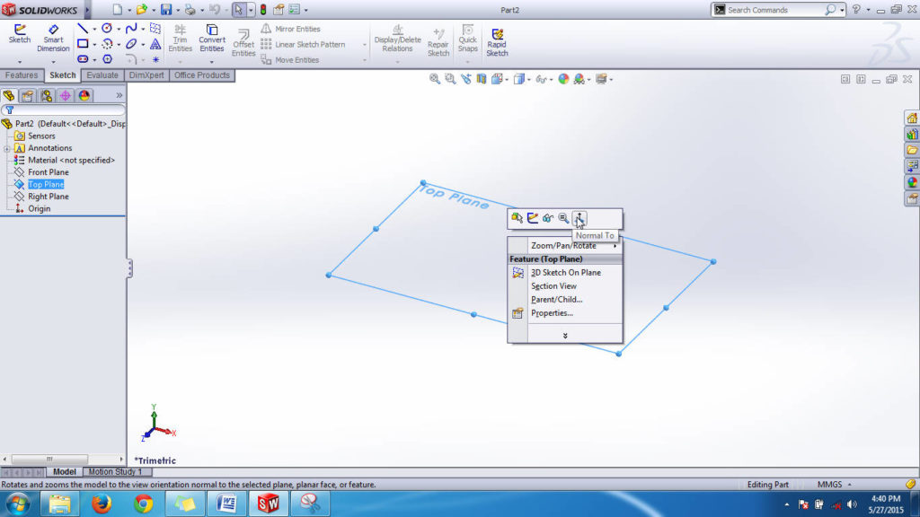 Solidworks-top-plane-3d-graphics-interface-view-screen-shot-step-4-1