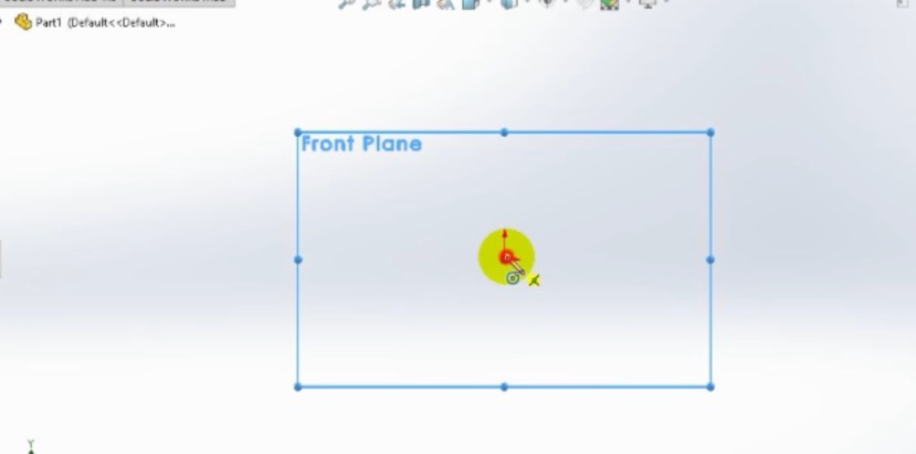 create new part file and selec front plane how to make spur gear 3d