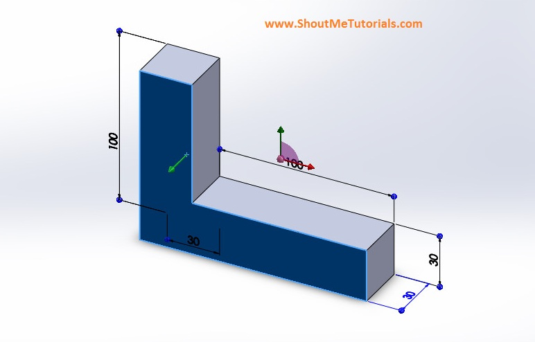 extrudedmodel image 6 step 3 - SolidWorks Mirror Feature Tool and Applications_SolidWorks Tutorial 37