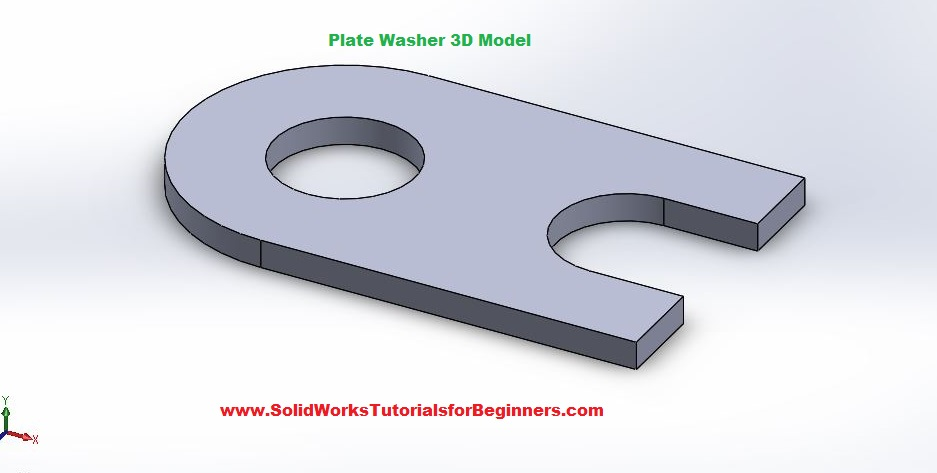 final 3d plate washer model solidworks cad exercises