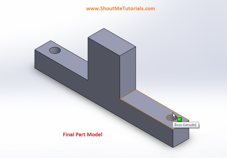 final mirrored image of feature mirror part file 1 - SolidWorks Mirror Feature Tool and Applications_SolidWorks Tutorial 37