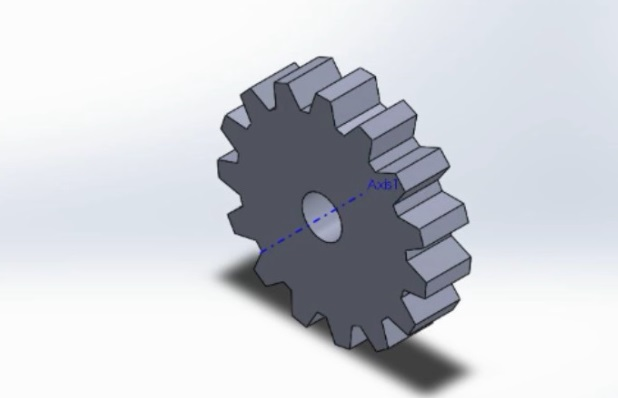 final spur gear with shaft hole how to make spur gear 3d model in solidworks