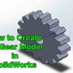 how to create gear 3d model in solidworks 2016