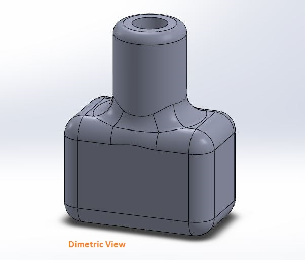 how to use solidworks view orienations -dimetric view tool screenshots-5