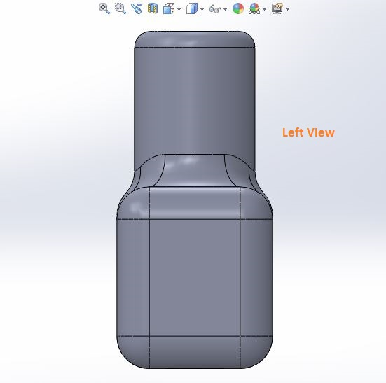 how to use solidworks view orienations -left view tool screenshots-6