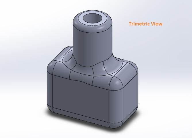 how to use solidworks view orienations - trimetric view tool screenshots-4