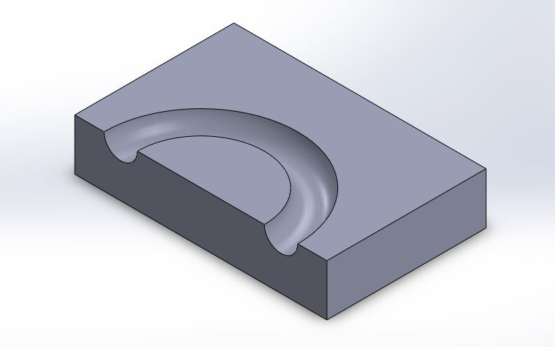 soldiworks tutorials solidworks swept cut feature tutorial final image