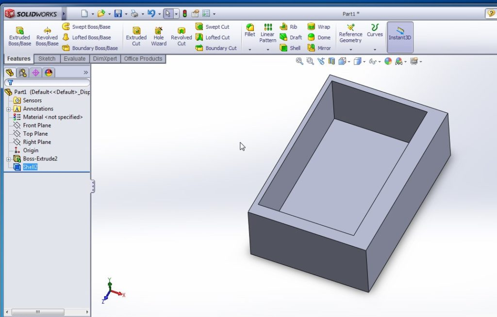 solidworks shell tutorialmulti thickness shell final image