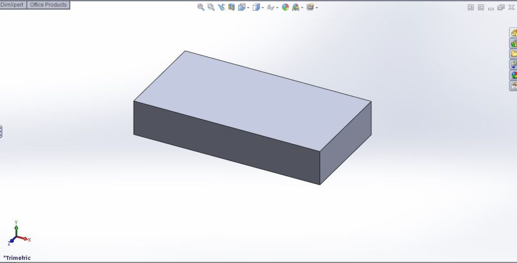 solidworks 2012 extrude boss tutorial-3D rectanglar box featured image-step-5