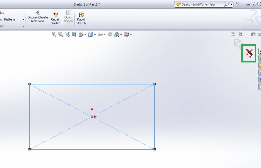 solidworks 2012 extrude boss tutorial-exit from sketch-step-2