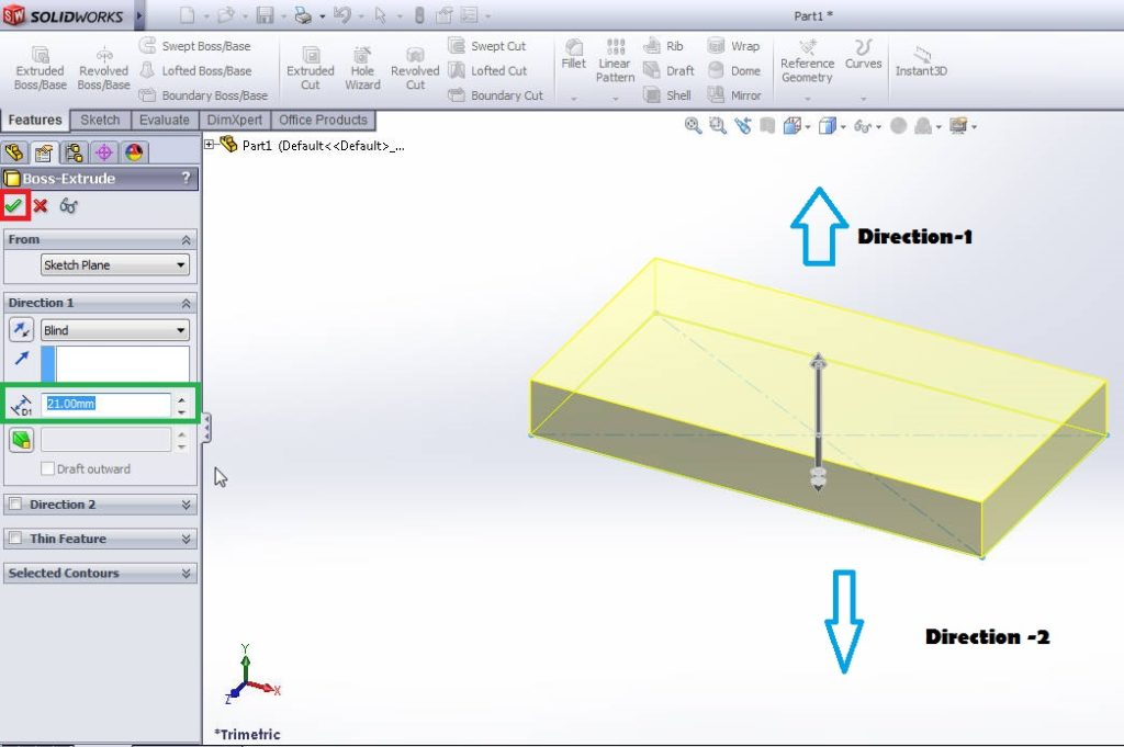 solidworks 2012 extrude boss tutorial-extrude bossapplication-step-5