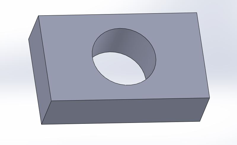 solidworks 2012 extrude cut feature model