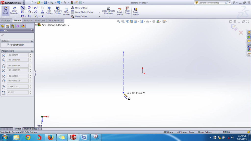 solidworks 2012 revolved boss or base feature axis selection step-2