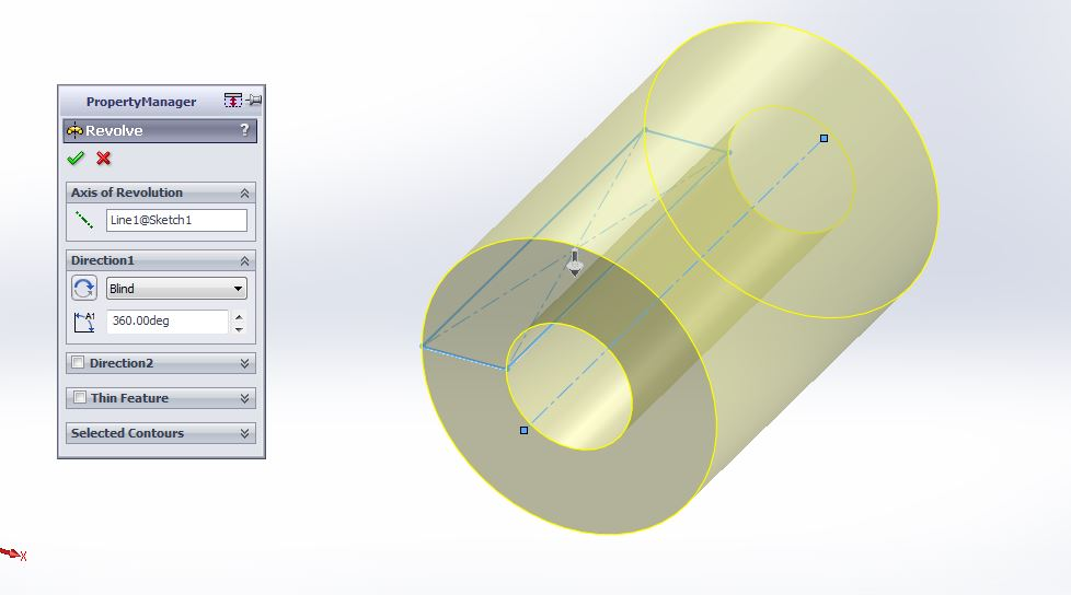 solidworks 2012 revolved boss or base feature with property manager axis selection step-4 image-2