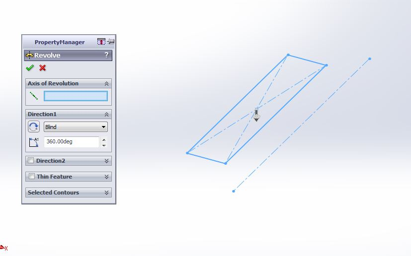 solidworks 2012 revolved boss or base feature with property manager step-4 image-1