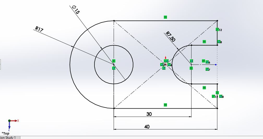 solidworks 2d sketch exercises circle rectangle and arc tool applications tutorial engineer