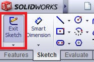 solidworks boundary boss or base tutorial_click on exit the sketch