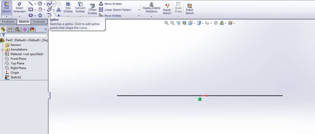 solidworks boundary boss or base tutorial_right click on right plane and make normalto