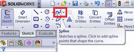 solidworks boundary boss or base tutorials_select splines from features command manager