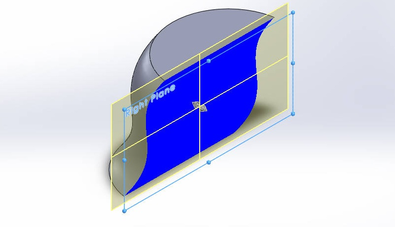 solidworks boundary bossbase tutorials bounadry boss model section view