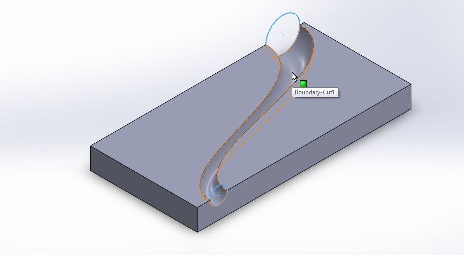 solidworks boundary cut tutorial_final boundary cutted model or design create surface curved path