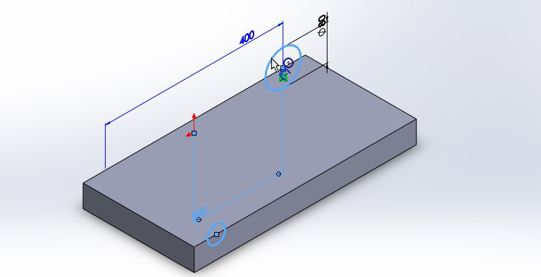 solidworks boundary cut tutorial_two cicrcular sketch profiles showned