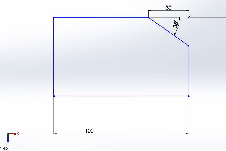 solidworks chamfer sketch tool tutorials-angle-distance chamfer complete-step-3 image-3