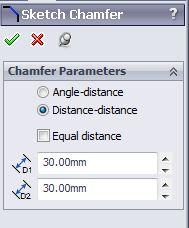 solidworks chamfer sketch tool tutorials-sketch chamfer property menu