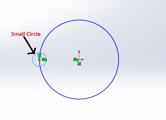 solidworks circular sketch pattern tutorials - draw small circle on base circle - screenshot-2
