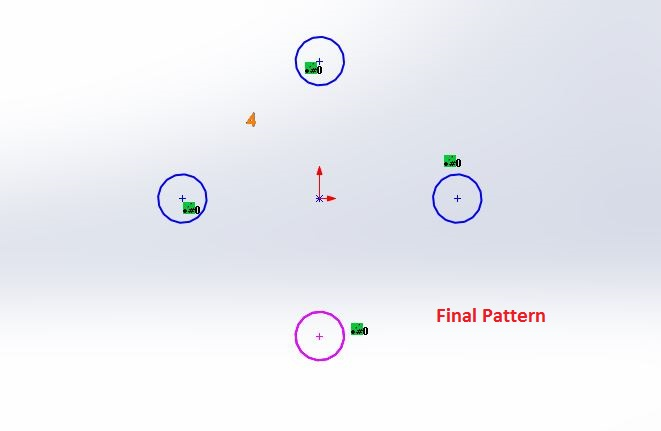 solidworks circular sketch pattern tutorials - pattern completed and deleted the base circle - screenshot-7