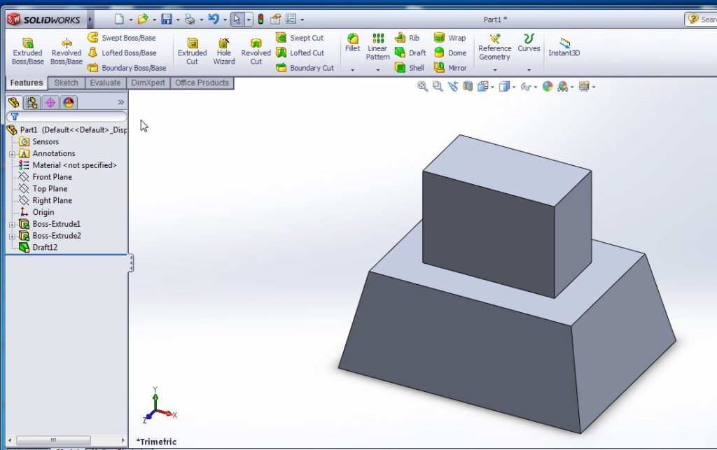 solidworks draft tutorial outer faces propagation draft final image
