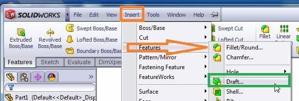 solidworks draft tutorial select solidworks draft tool from insert menubaR