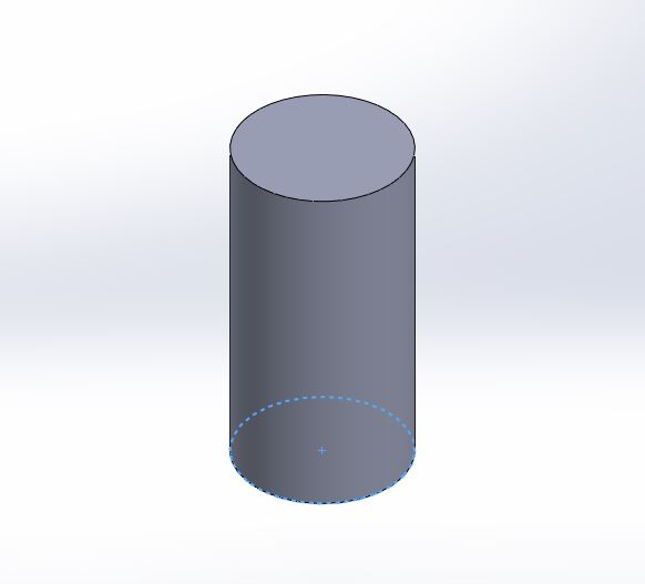 solidworks exercises-how to create 3d cylinder step for final 3d cylider image