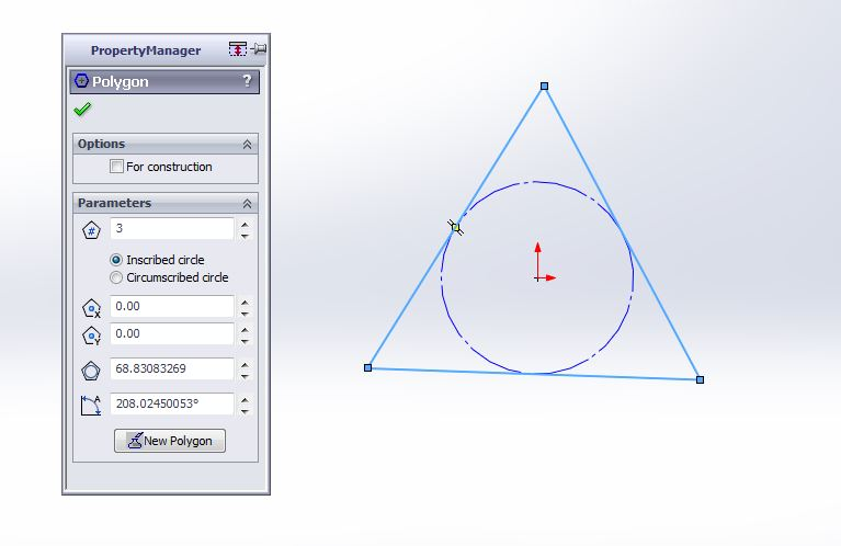 solidworks exercises-how to create 3d triangular block traingle profile sketch creation