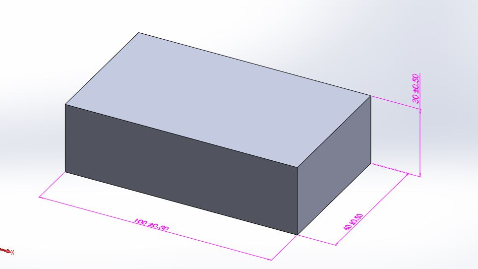 solidworks extrude cut feature tutorial- rectangle box 100 60 30 mm step-2