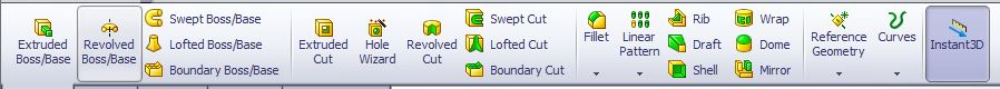 solidworks command manager features toolbar