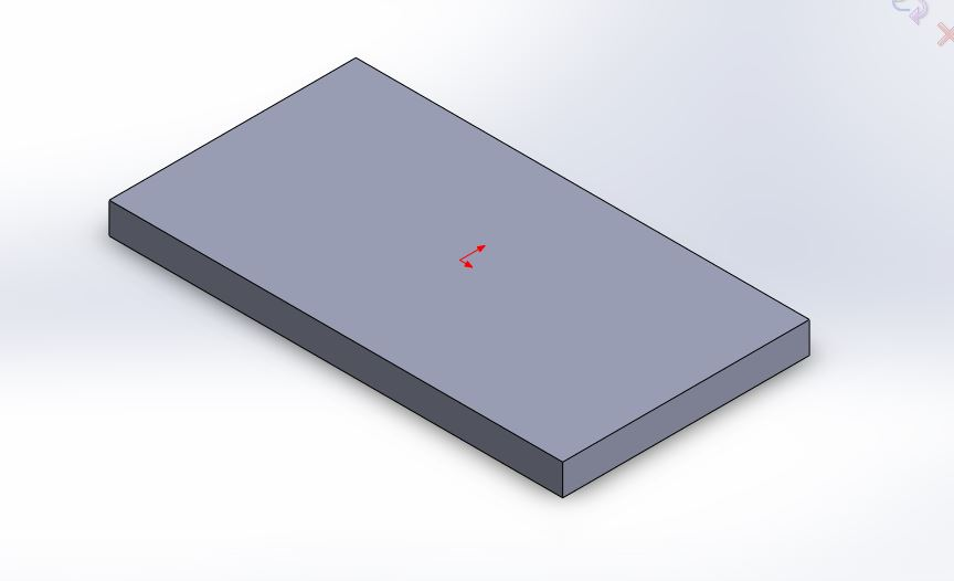 solidworks linear pattern tool rectangular plate for creating hexagonal pattern
