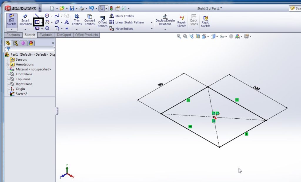 solidworks loft boss or base tutorial for beginners - using profile method - step-2