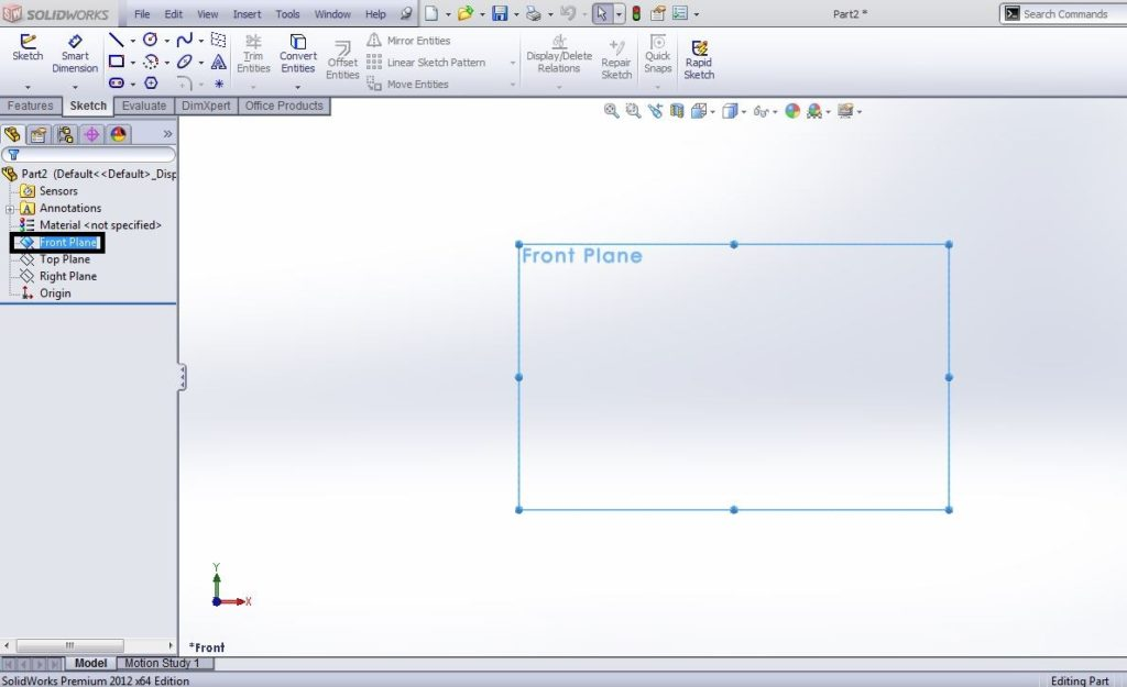 solidworks-perimter-circle-drawing-tutorial-plane-selection-step-2