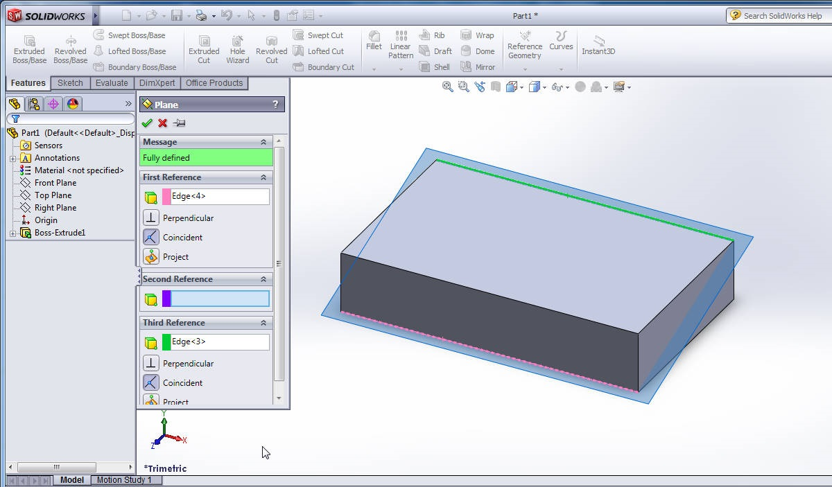 How to Use SolidWorks Reference Plane Features Tool