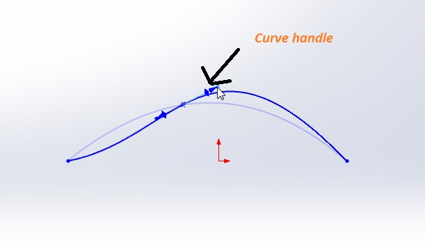 solidworks spline sketching tutorial_spline point curve handle to make simple curve to complex one