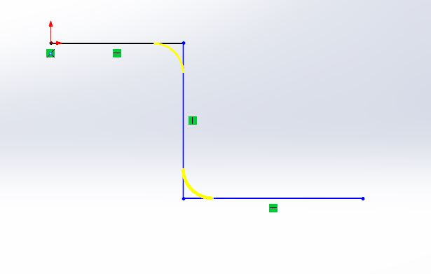 solidworks swept boss or base feature use - solid works tutorials -shout me tutorials dot com give fillet to bend sktech step-2-1