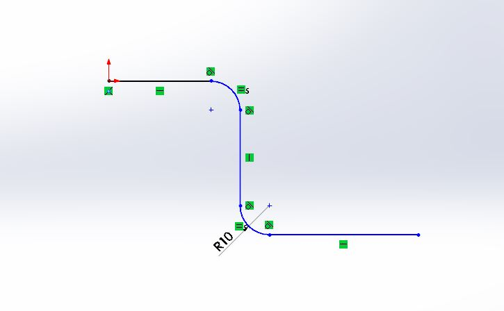 solidworks swept boss or base feature use - solid works tutorials -shout me tutorials dot com resulting line with curve sktech step-2-2