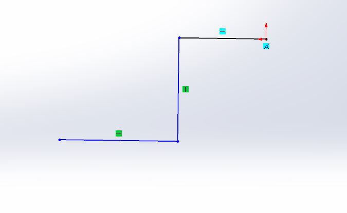 solidworks swept boss or base feature use - solid works tutorials -shout me tutorials dot come draw a line sktech step-2