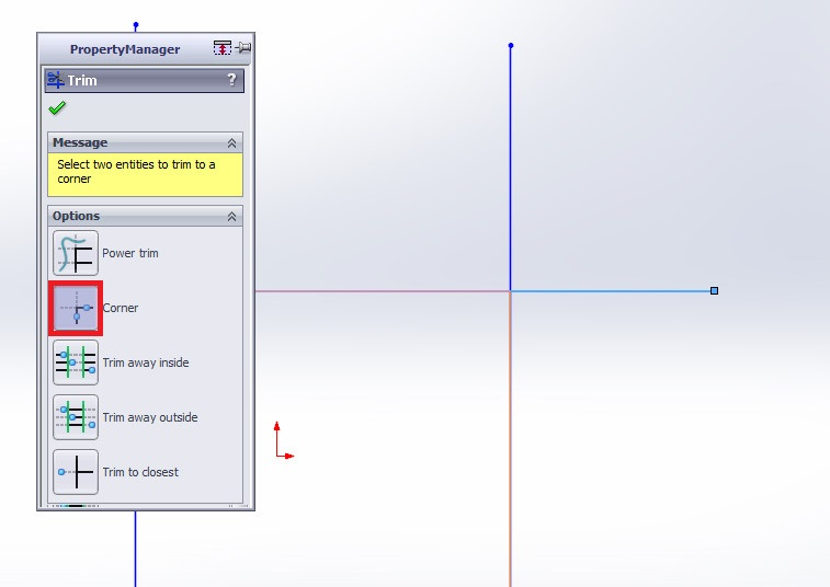 solidworks trim entities tutorials how to use corner trim final corner trim image5