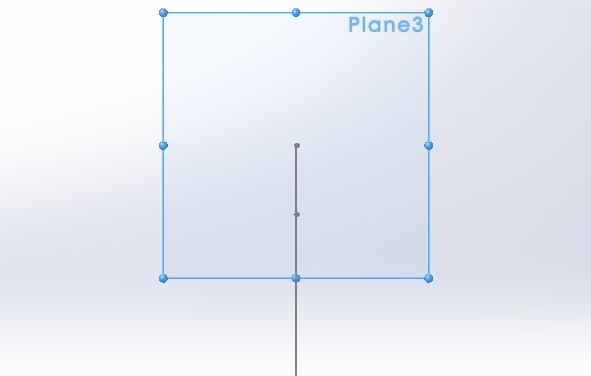 swept boss solidworks tutorials - create second plane for creating closed profile - use normal to step-3-4
